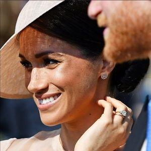 Jewelry - Sterling Silver Crystal Camellia Flower Earrings